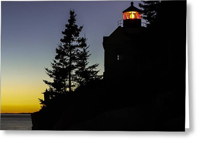 Maine Shore Greeting Cards - Maine Lighthouse  Greeting Card by Dana Ward