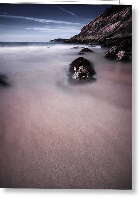 Maine Beach Greeting Cards - Maine Low Tide Greeting Card by Chad Tracy