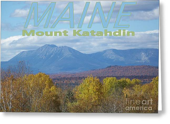 Recently Sold -  - Coastal Maine Greeting Cards - Maine Mount Katahdin Greeting Card by Joseph Marquis