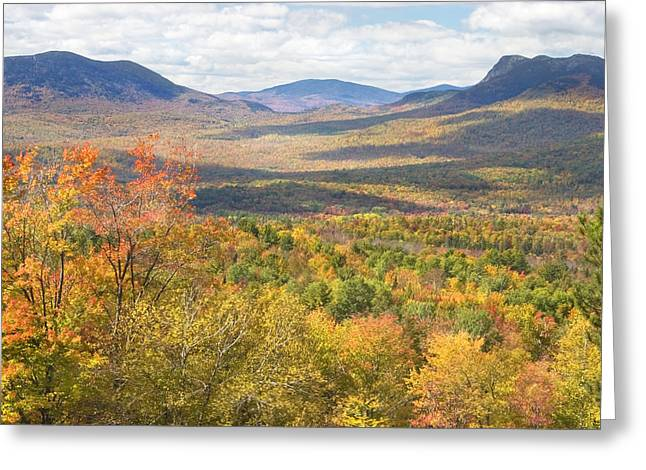 Maine Landscape Greeting Cards - Maine Mountains In Fall Mount Blue State Park  Greeting Card by Keith Webber Jr