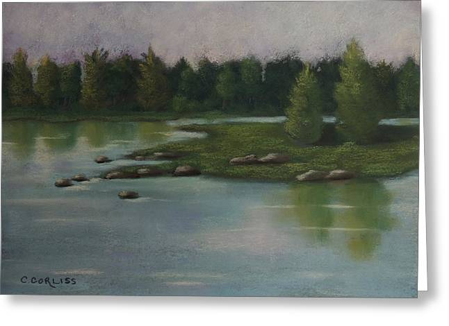 Maine Pastels Greeting Cards - Maine Reflections Greeting Card by Carol Corliss
