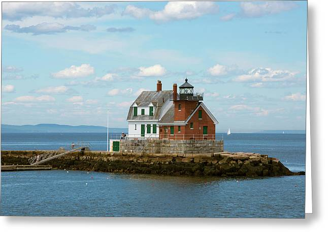 Maine, Rockland, Penobscot Bay Greeting Card by Cindy Miller Hopkins
