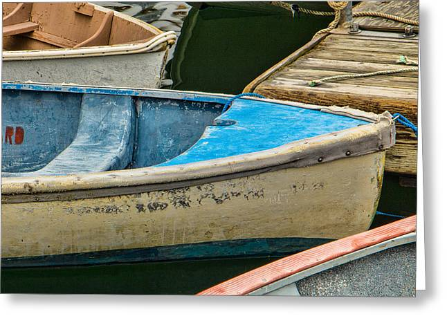 Clam Chowder Greeting Cards - Maine Rowboats Greeting Card by Steven Bateson