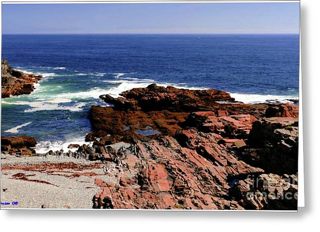 Maine Seascape Greeting Card by Kathleen Struckle