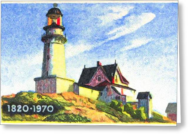 Old Maine Houses Greeting Cards - Maine Statehood Greeting Card by Lanjee Chee