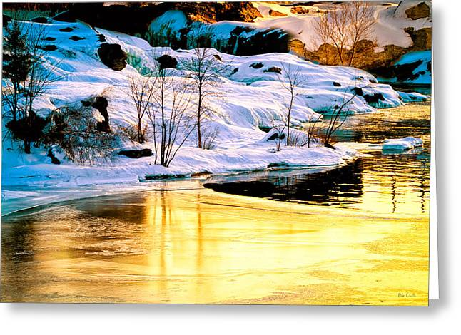 Androscoggin Greeting Cards - Maine Winter along the Androscoggin River Greeting Card by Bob Orsillo