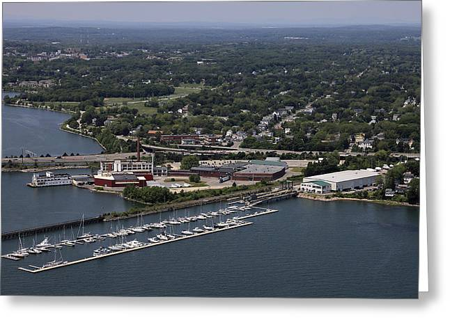 Maine Landscape Greeting Cards - Maine Yacht Center, Portland Greeting Card by Dave Cleaveland