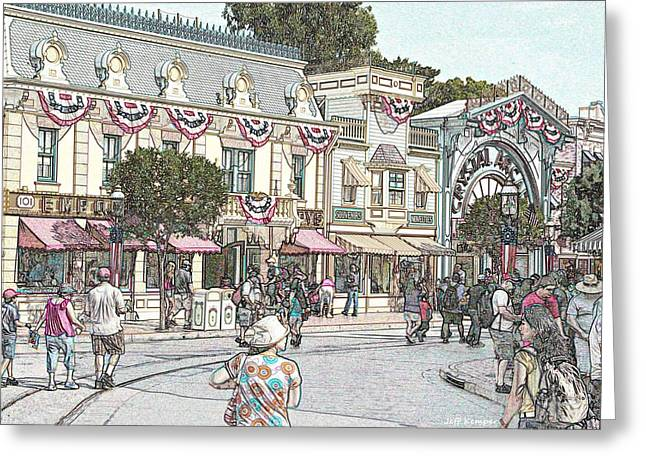 Mainstreet Anytown Usa Greeting Card by Jeff Kemper