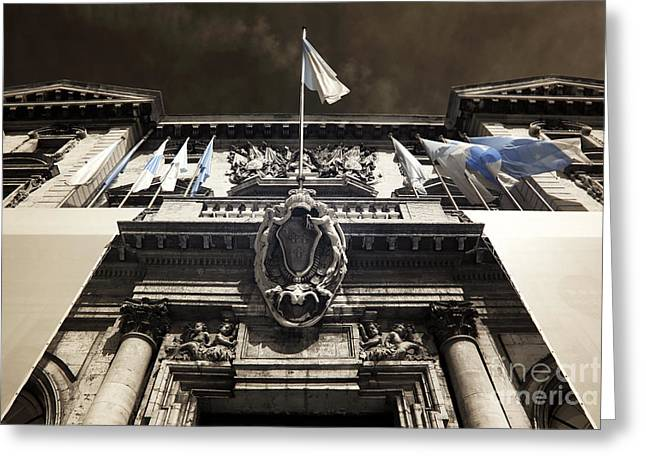 Ir Photography Greeting Cards - Mairie de Marseille Greeting Card by John Rizzuto