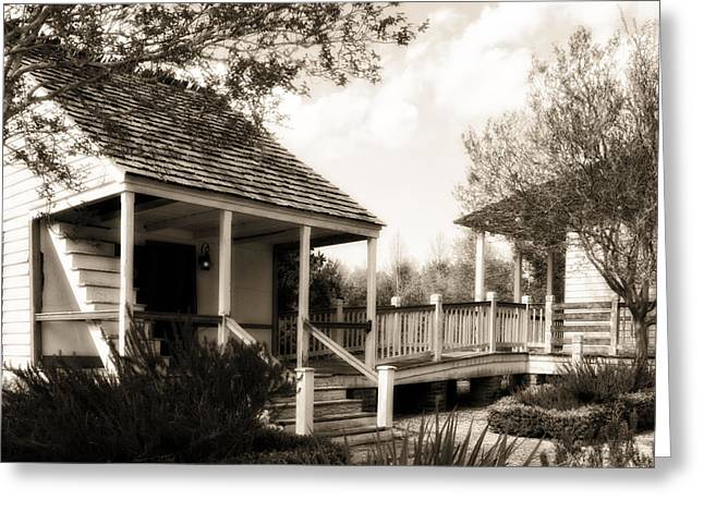 Old Porch Greeting Cards - Maison Greeting Card by Cecil Fuselier