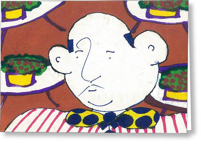 French Tapestries - Textiles Greeting Cards - Maitre D Greeting Card by Don Koester