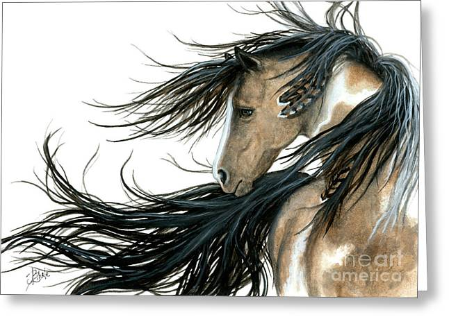 Pinto Greeting Cards - Majestic 89 Greeting Card by AmyLyn Bihrle
