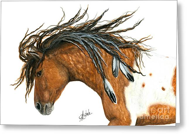 Curly Horse Art Greeting Cards - Majestic 97 Greeting Card by AmyLyn Bihrle