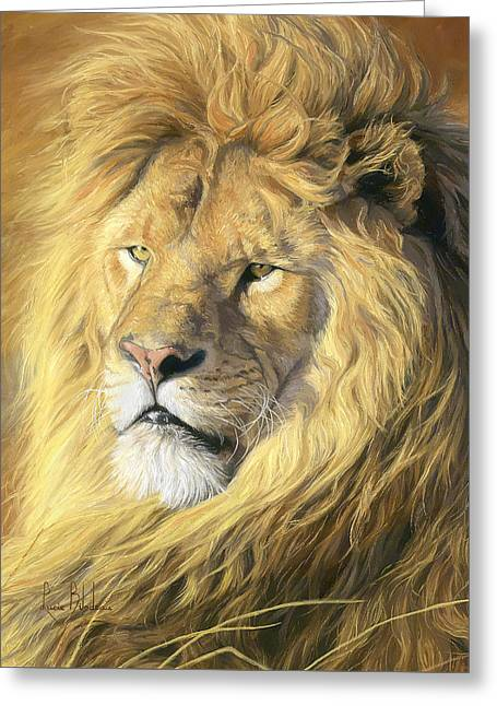 Male Greeting Cards - Majestic - Detail Greeting Card by Lucie Bilodeau