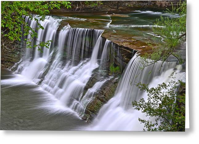 Majestic Falls Greeting Card by Frozen in Time Fine Art Photography