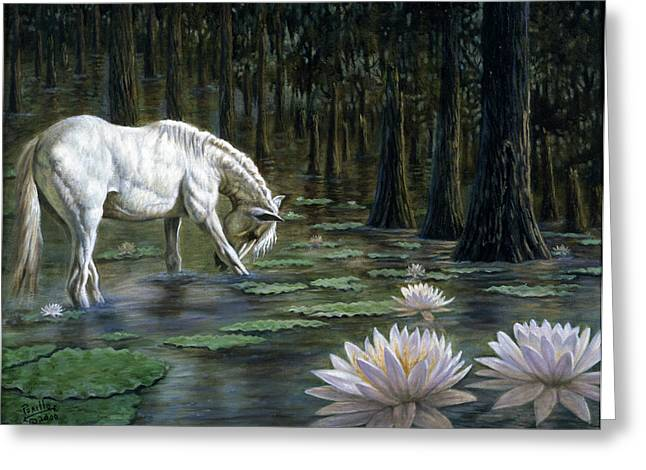 Wild Horses Mixed Media Greeting Cards - Majestic Greeting Card by Gregory Perillo
