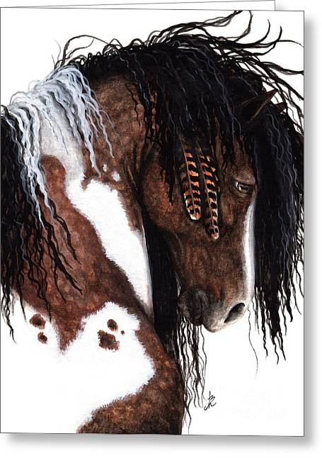 Gypsy Paintings Greeting Cards - Majestic Gypsy Horse 131 Greeting Card by AmyLyn Bihrle