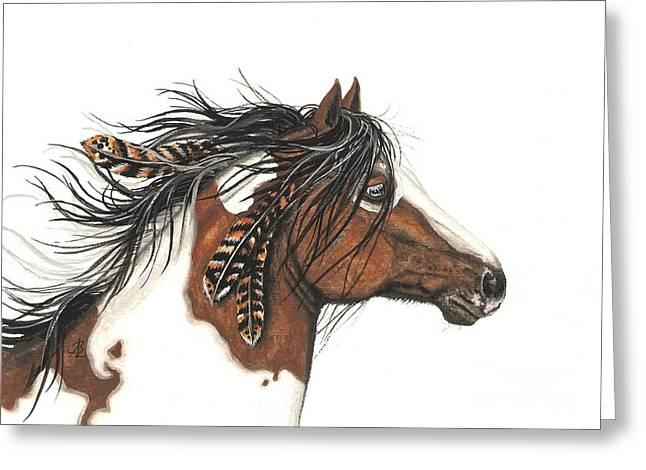 Buckskin Horse Greeting Cards - Majestic Horse Series 32 Greeting Card by AmyLyn Bihrle