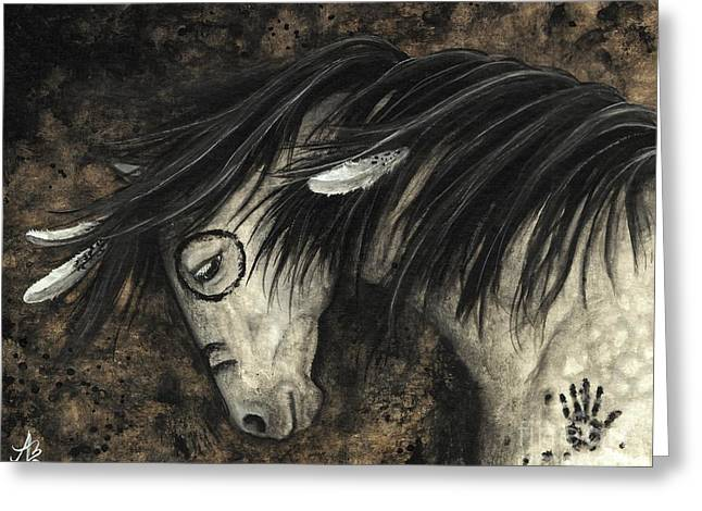 Buckskin Horse Greeting Cards - Majestic Dapple Horse 58 Greeting Card by AmyLyn Bihrle