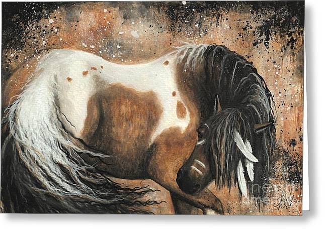 Buckskin Horse Greeting Cards - Majestic Horse Series 74 Greeting Card by AmyLyn Bihrle