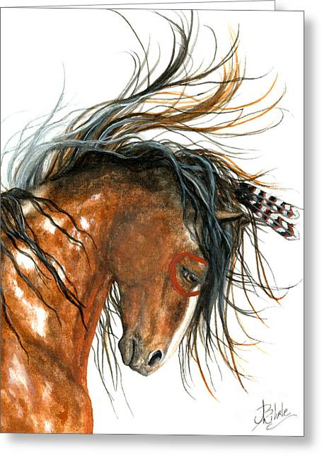 Curly Horse Art Greeting Cards - Majestic Horse Series 85 Greeting Card by AmyLyn Bihrle