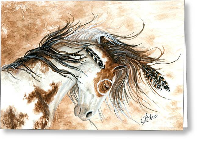 Curly Horse Art Greeting Cards - Majestic Horse Series 87 Greeting Card by AmyLyn Bihrle