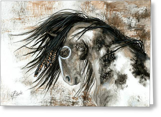 Curly Horse Art Greeting Cards - Majestic Horse Series 88 Greeting Card by AmyLyn Bihrle