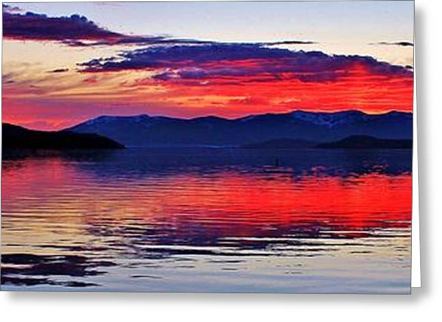 Reflecting Water Greeting Cards - Majestic Idaho Greeting Card by Benjamin Yeager