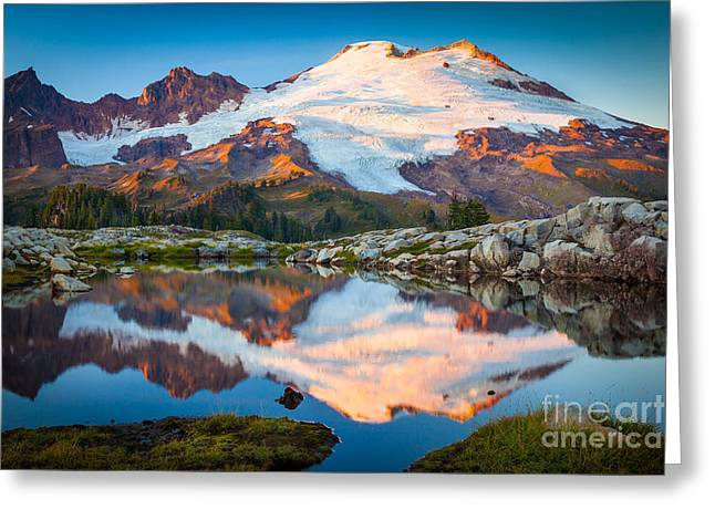 Peaceful Pond Greeting Cards - Majestic Kulshan Greeting Card by Inge Johnsson