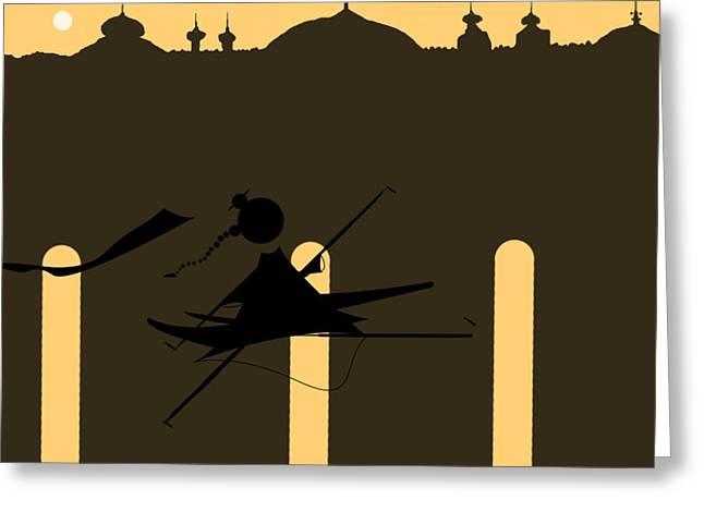 Liberation Digital Art Greeting Cards - Majestic Liberation Greeting Card by Abhishek Udaykumar