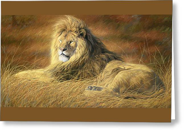 Male Greeting Cards - Majestic Greeting Card by Lucie Bilodeau