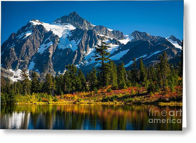 Majestic Mount Shuksan Greeting Card by Inge Johnsson