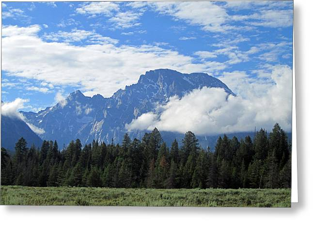Grand Tetons Greeting Cards - Majestic Mountains Greeting Card by Mike Podhorzer