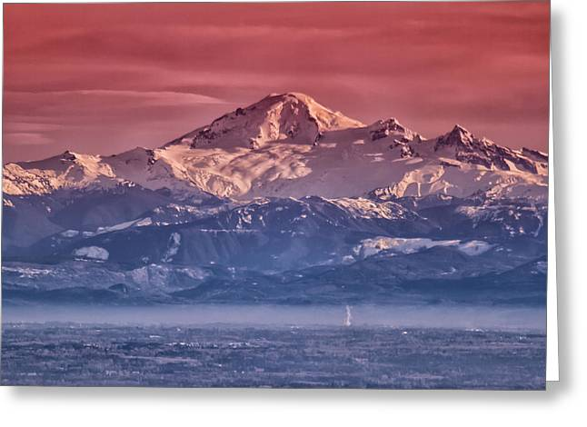 Layer Greeting Cards - Majestic Mt Baker Greeting Card by Eti Reid