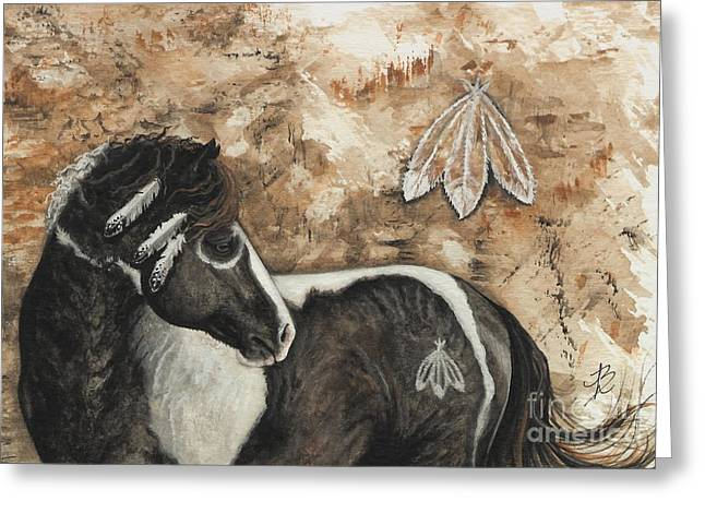 Mustang Art Greeting Cards - Majestic Curly Horse #52 Greeting Card by AmyLyn Bihrle