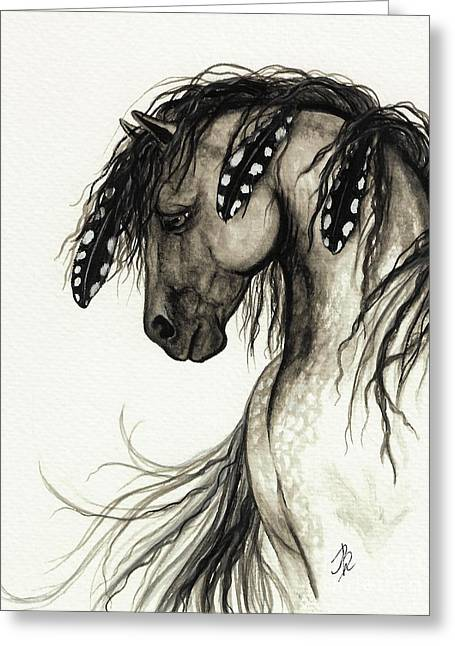 Wild Horses Greeting Cards - Majestic Mustang Horse Series #51 Greeting Card by AmyLyn Bihrle