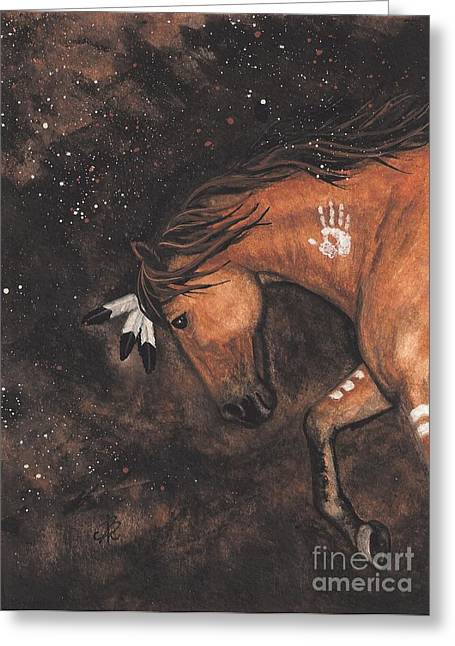 Tri Colored Greeting Cards - Majestic Mustang Series 40 Greeting Card by AmyLyn Bihrle