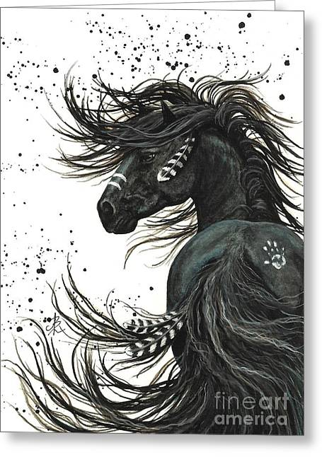 Spirit Paintings Greeting Cards - Majestic Spirit Horse 65 Greeting Card by AmyLyn Bihrle