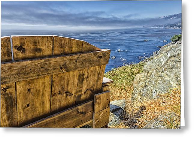 Big Sur Greeting Cards - Majestic Overlook Greeting Card by Joseph S Giacalone