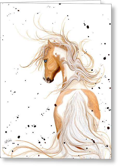Pinto Greeting Cards - Majestic Palomino Pinto 121  Greeting Card by AmyLyn Bihrle