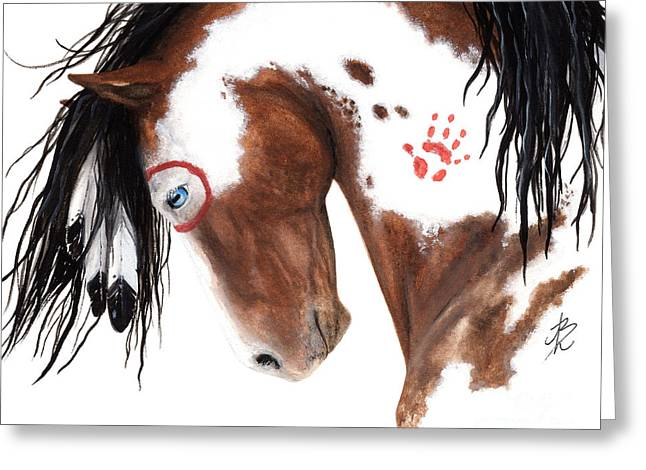 Pinto Greeting Cards - Majestic Pinto Horse 129 Greeting Card by AmyLyn Bihrle