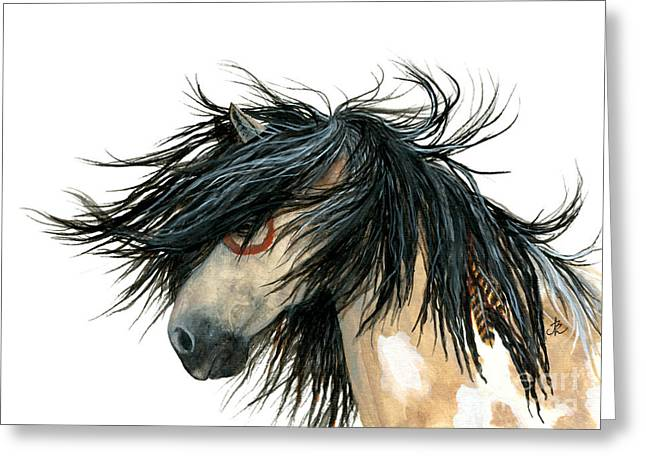 Buckskin Horse Greeting Cards - Majestic Pinto Horse 86 Greeting Card by AmyLyn Bihrle