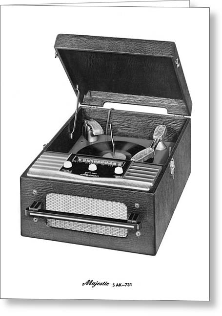 Music Of The Past Greeting Cards - Majestic Radio And Phonograph Greeting Card by Underwood Archives
