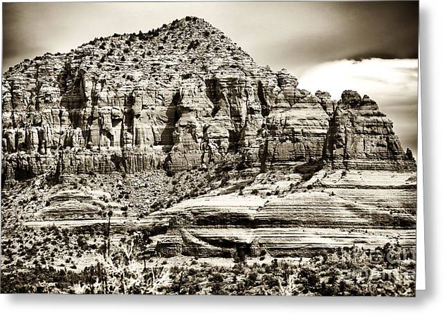 Coconino National Forest Greeting Cards - Majestic Sedona Greeting Card by John Rizzuto