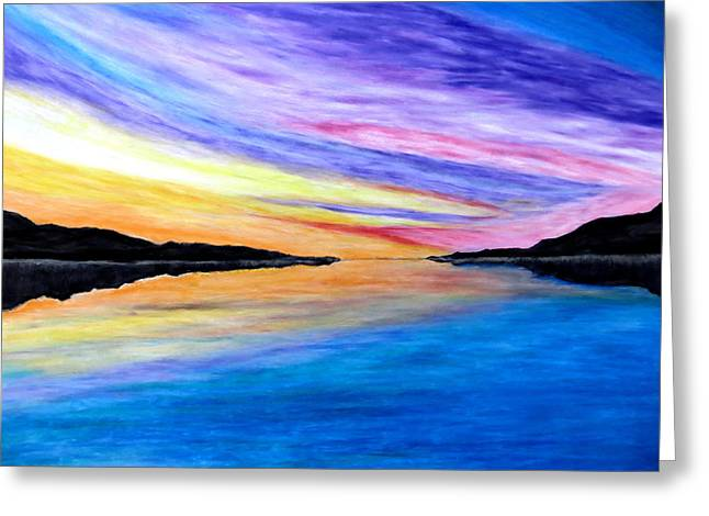 Setting Pastels Greeting Cards - Majestic Sky Greeting Card by Daniel Dubinsky