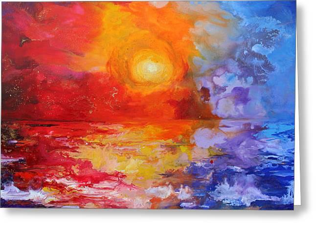 Majestic Sunset Greeting Card by Julia Apostolova