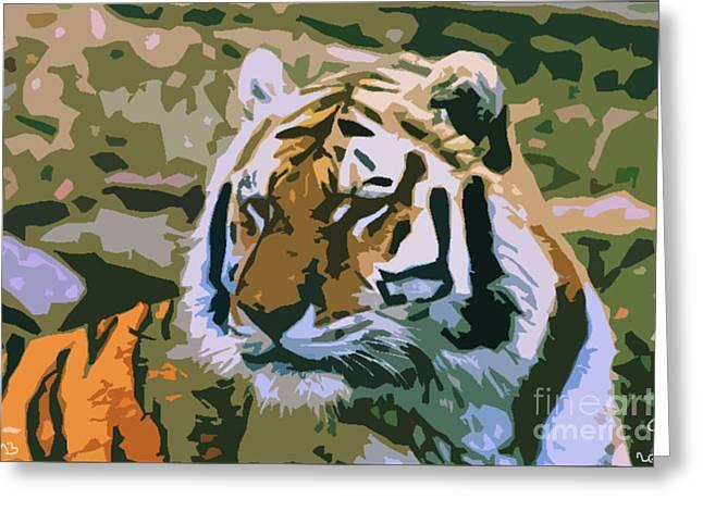 Majestic Tiger Greeting Card by Mark Brady