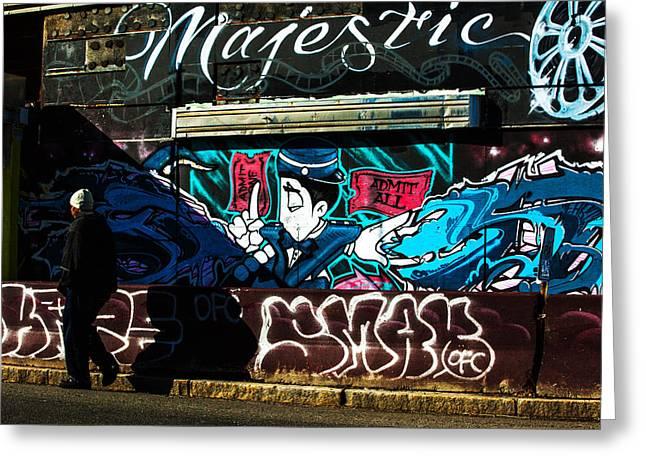 Citylife Greeting Cards - Majestic Urban Art Greeting Card by Karol  Livote