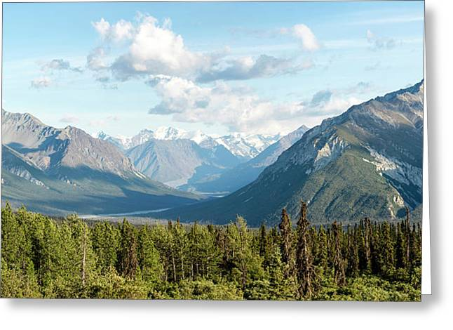 Majestic Valley As It Matanuska-susitna Greeting Card by Panoramic Images