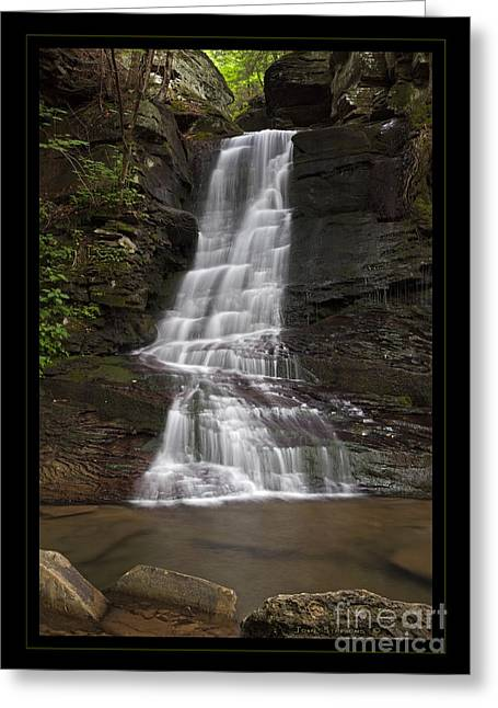 Water Flowing Greeting Cards - Majestic Wilderness Waterfall Greeting Card by John Stephens